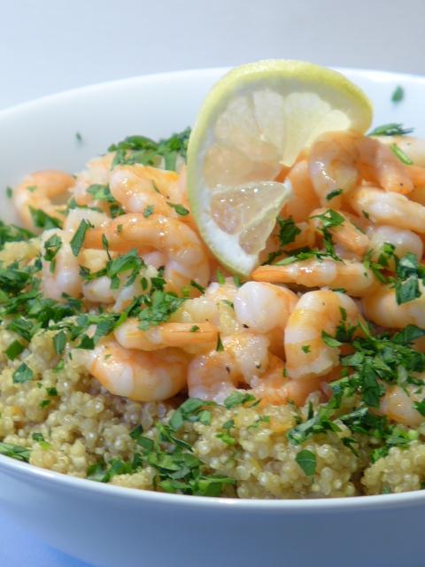 quinoa mit knoblauch und shrimps kochen kochen rezepte fischgerichte rezepte. Black Bedroom Furniture Sets. Home Design Ideas