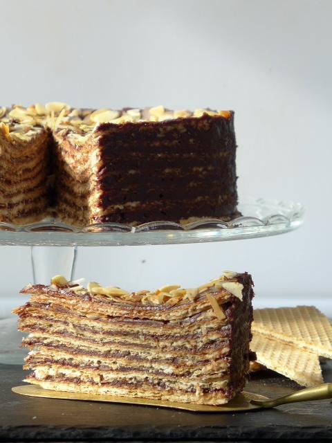 waffeltorte mit schokocreme kochen kochen rezepte torten rezepte. Black Bedroom Furniture Sets. Home Design Ideas