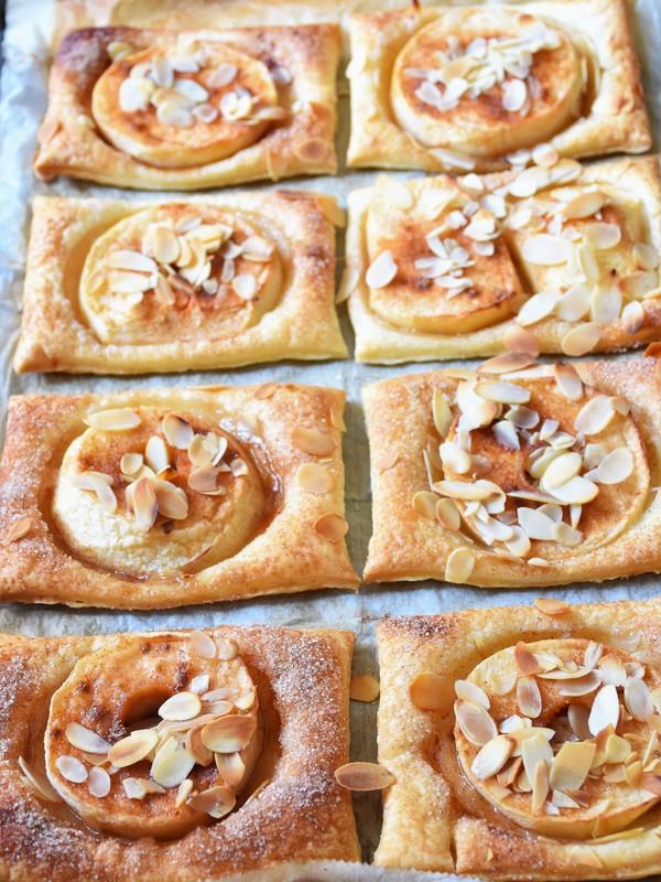 Apfel Zimt Ecken Aus Blatterteig Kochen Kochen Rezepte Kuchen
