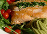Lachs mit Avocadosauce fructosefrei